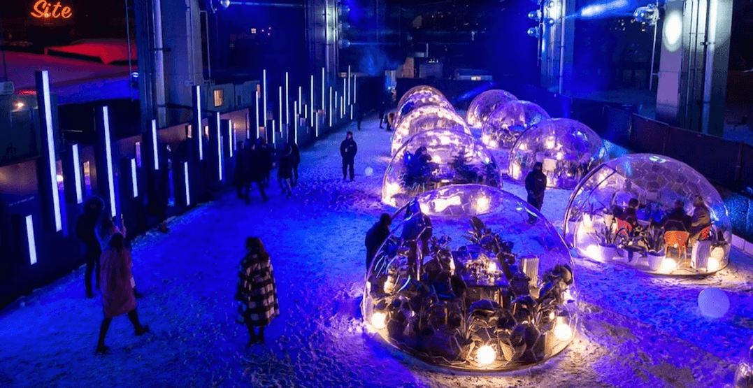 You can dine in a magical dome under the Gardiner next week