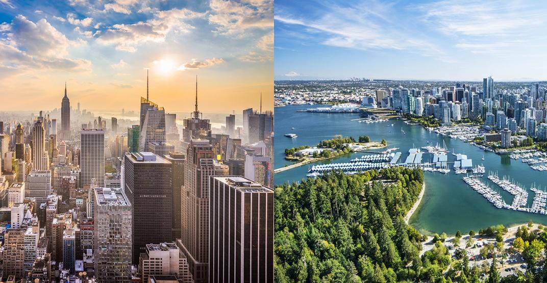 New york city vancouver