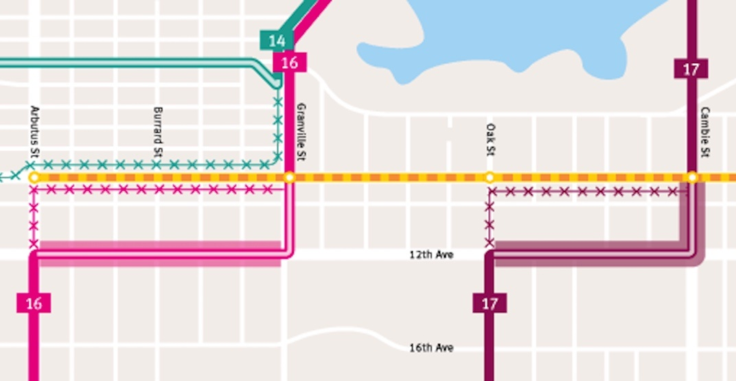 TransLink releases map of trolley reroutes during Broadway Subway construction