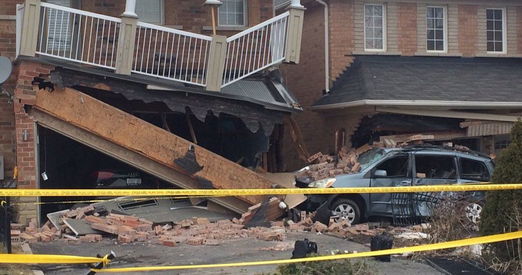 TTC driver charged after bus crashes into Scarborough homes