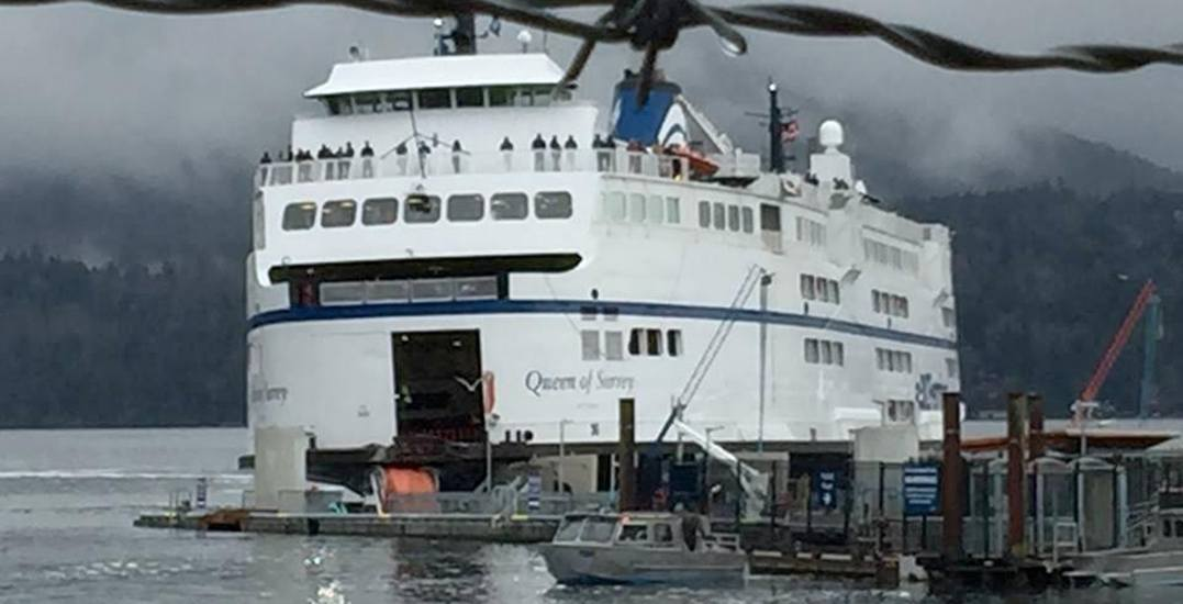 Ferries to Sunshine Coast halted after vessel hits dock at Langdale terminal