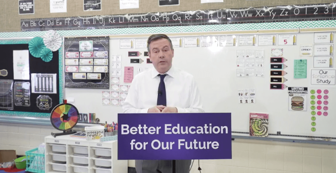 Jason Kenney announces big education changes if UCP wins election