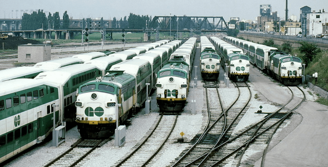 Here's a wild look at the evolution of the GO train over the years