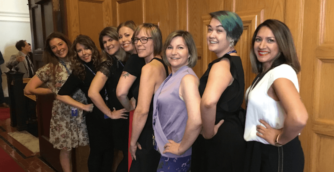 Women working at BC Legislature told to cover their bare arms