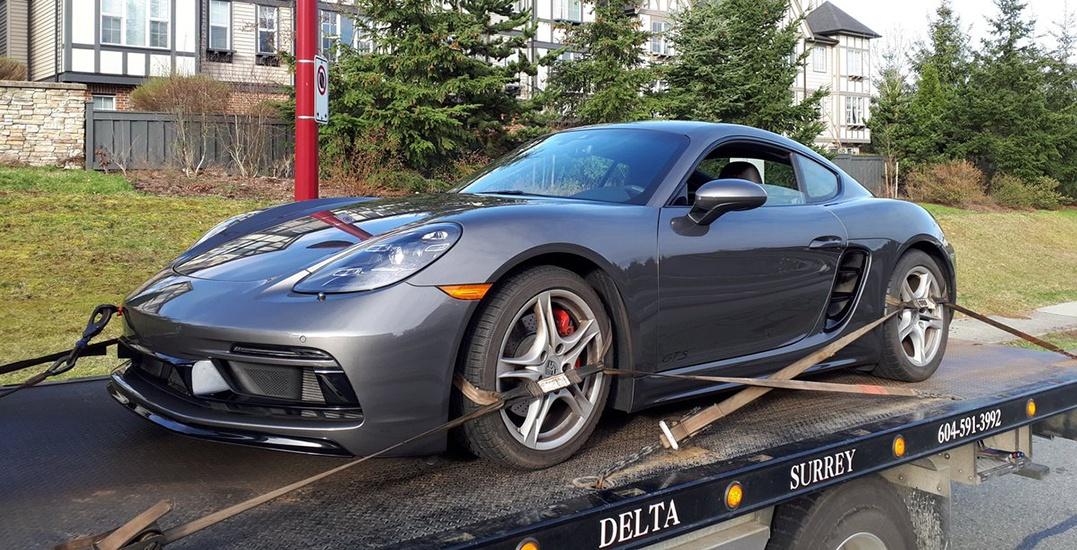 Police impound Porsche driving 134 km/h in a 60 km/h zone