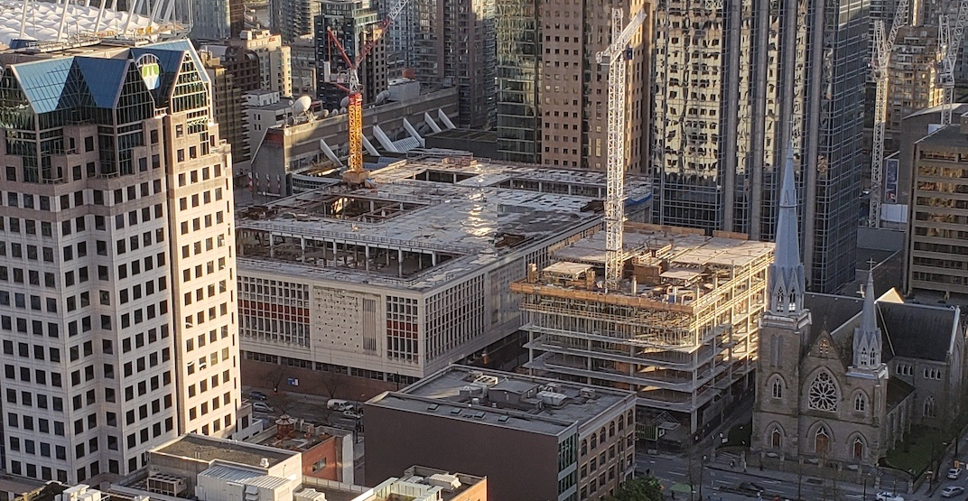 Construction progressing on new Amazon office at old Canada Post building (PHOTOS)