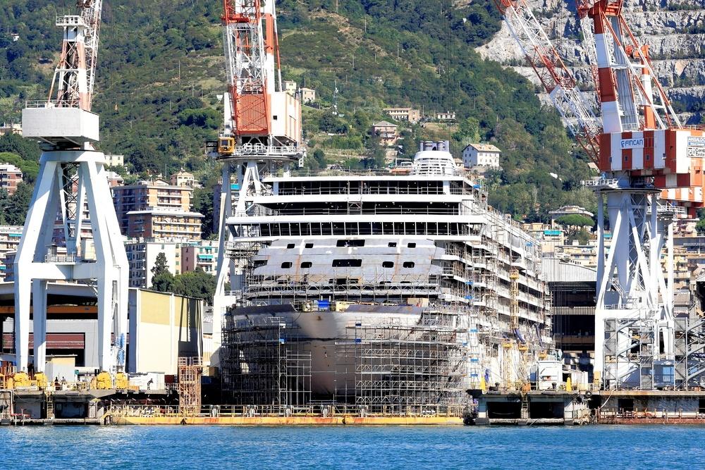 Fincantieri shipyard Italy
