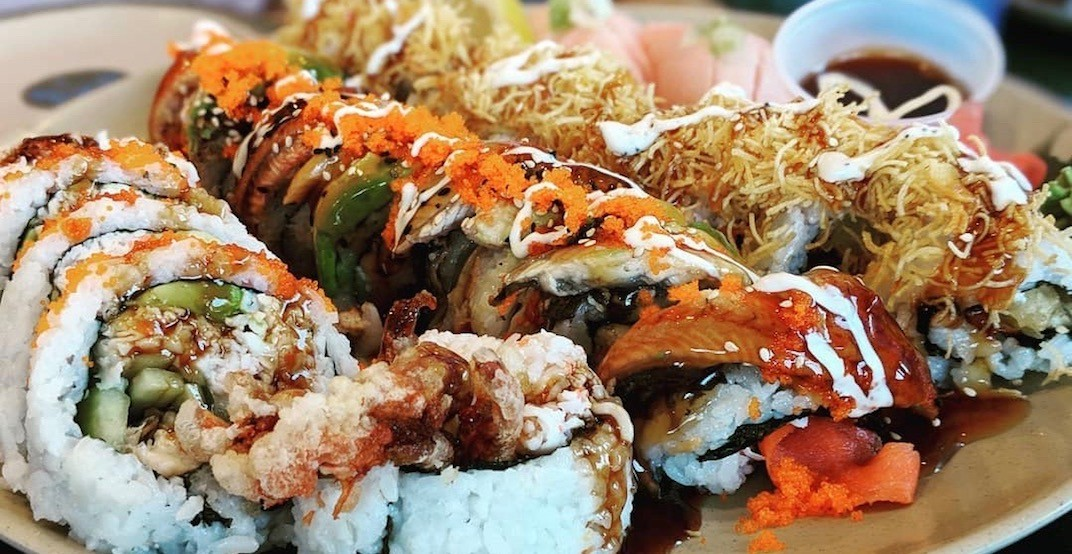 Get bulk platters of cheap sushi at Tokyo Joe's Sushi Factory
