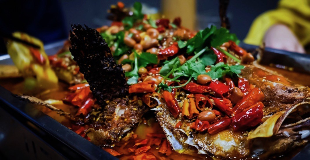 Grill rock fish with spicy and chinese spice li%e2%80%99s china grill