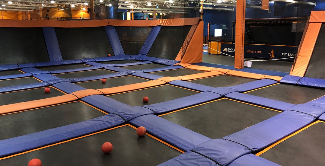 You can buy Sky Zone Surrey's giant trampolines at an auction next week