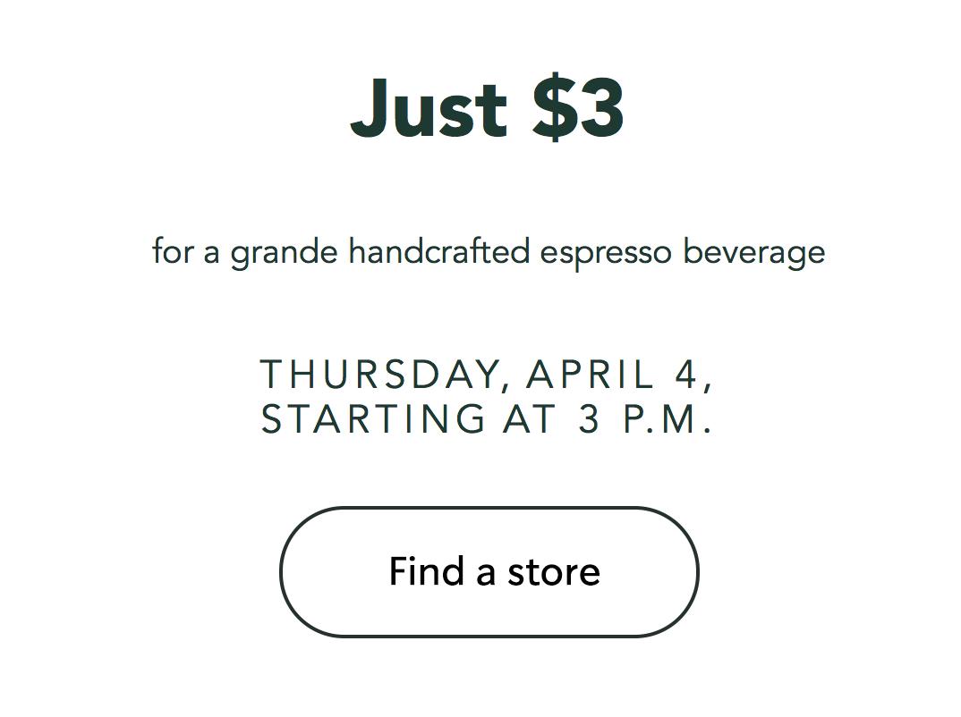 Starbucks Happy Hour April 4