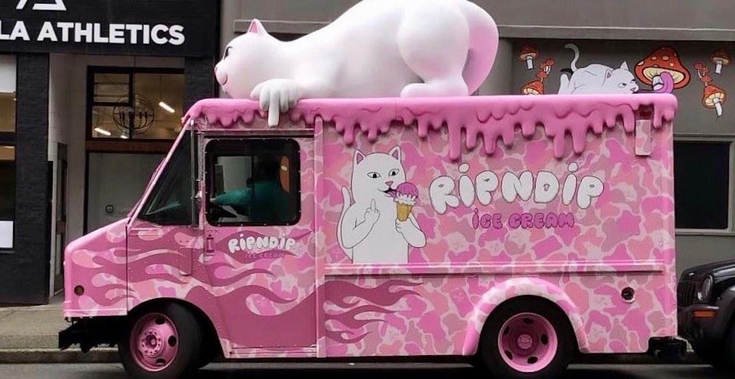 Trendy Los Angeles-based Rip N Dip ice cream truck spotted in Vancouver
