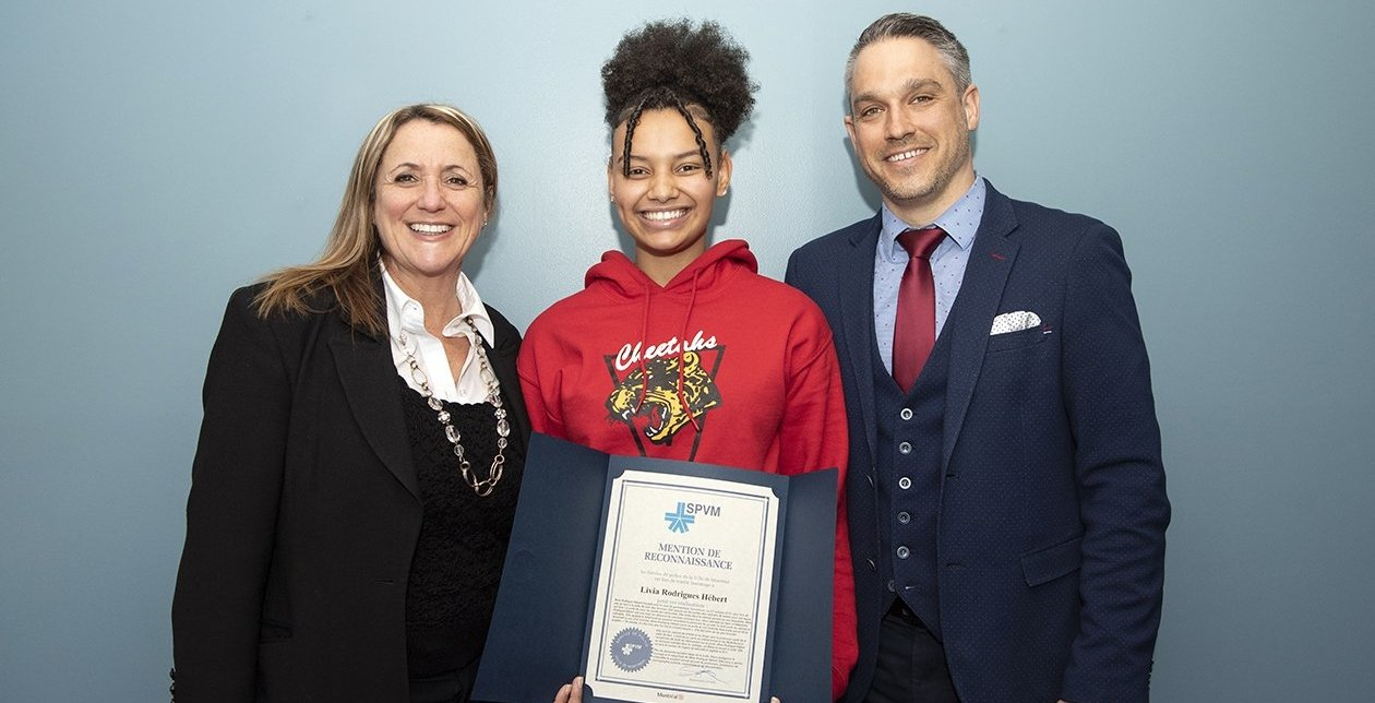Montreal teen honoured by SPVM for stopping suspected sexual predator