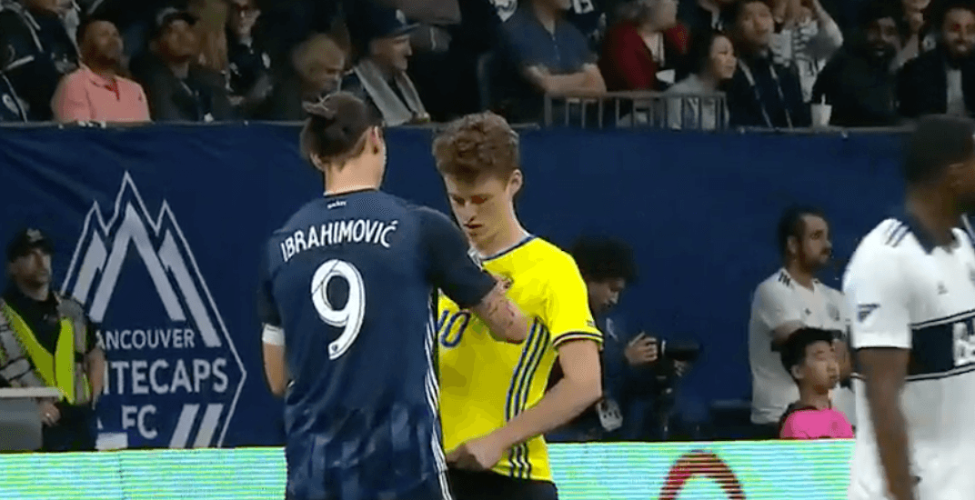 a1dc07f9f It was the Zlatan Ibrahimovic show at BC Place on Friday night. The  37-year-old football superstar made his first appearance in Vancouver