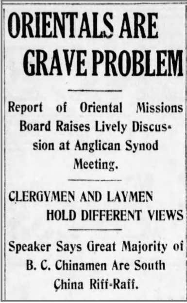 Headline from The Vancouver Daily Word, January 29, 1920