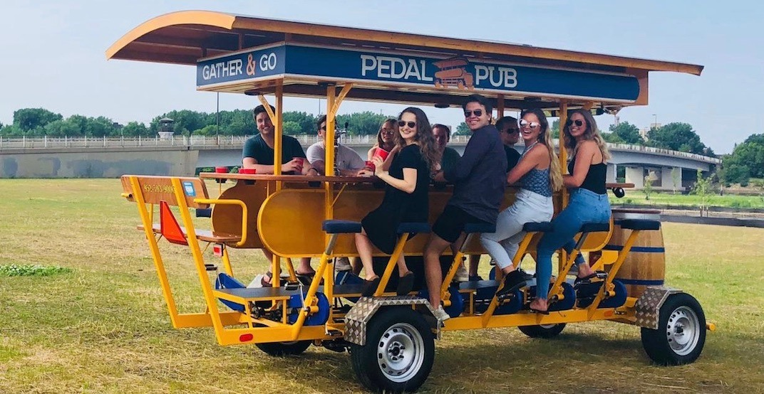 A 15-person party beer bike just launched in Calgary