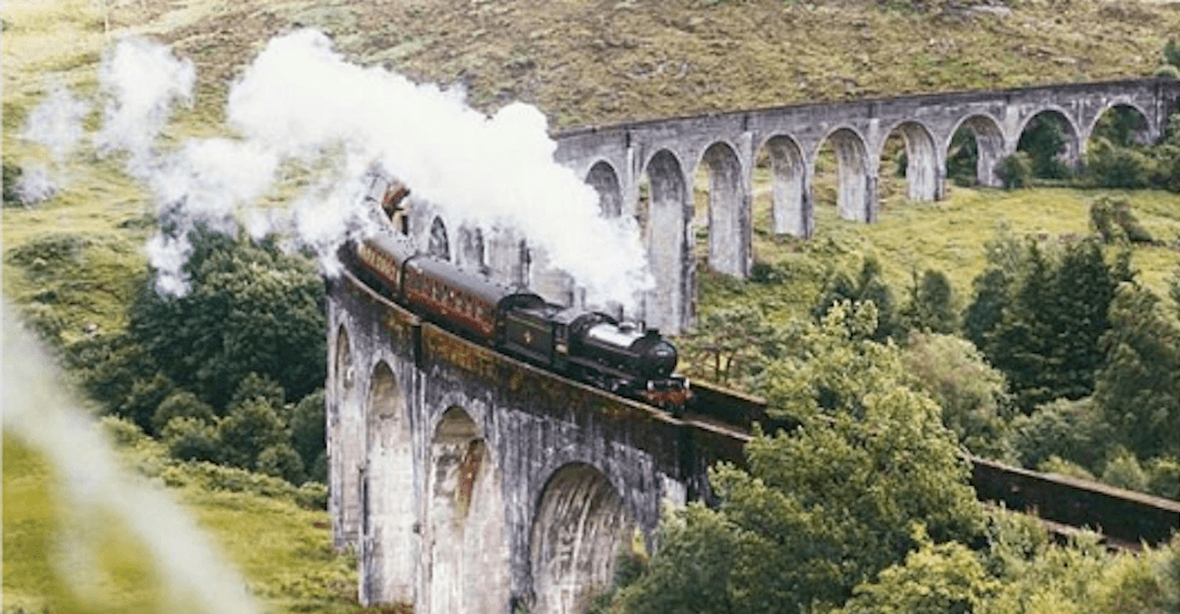 You can ride the Hogwarts Express IRL through these majestic mountains