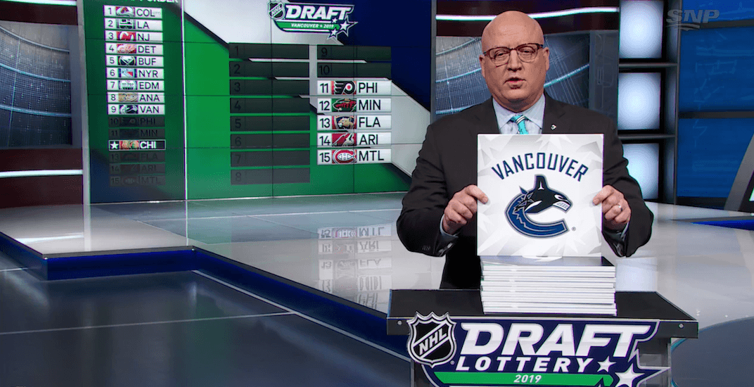 Canucks can't beat draft lottery odds, drop to 10th
