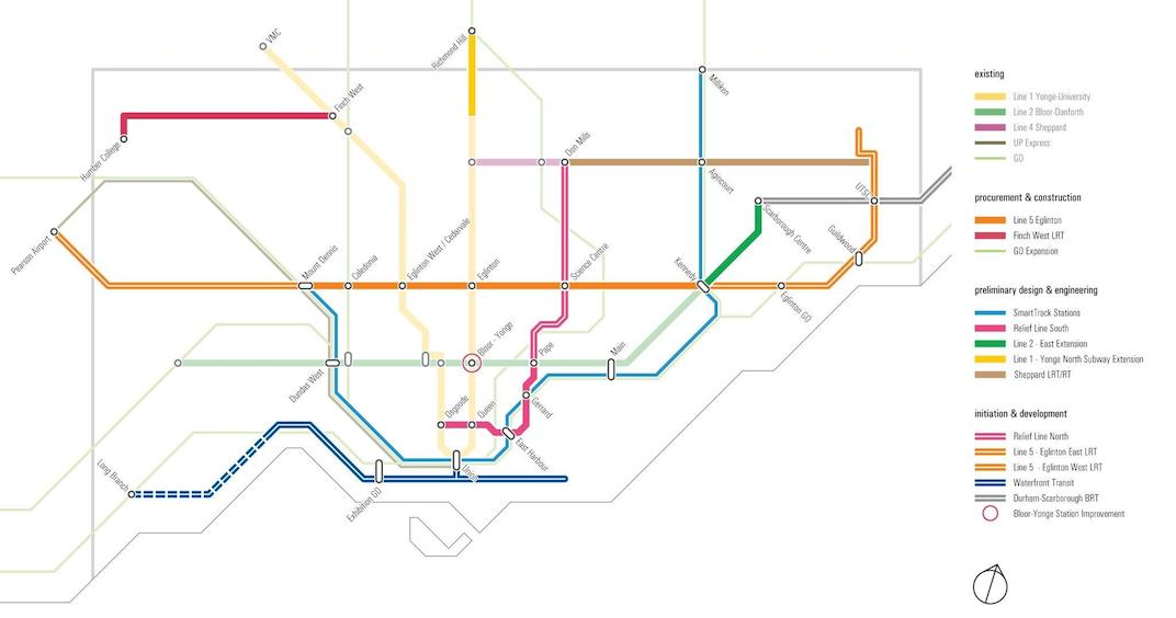 Toronto Subway Map.Newly Revealed Map Shows Toronto S Ambitious Plans For Transit