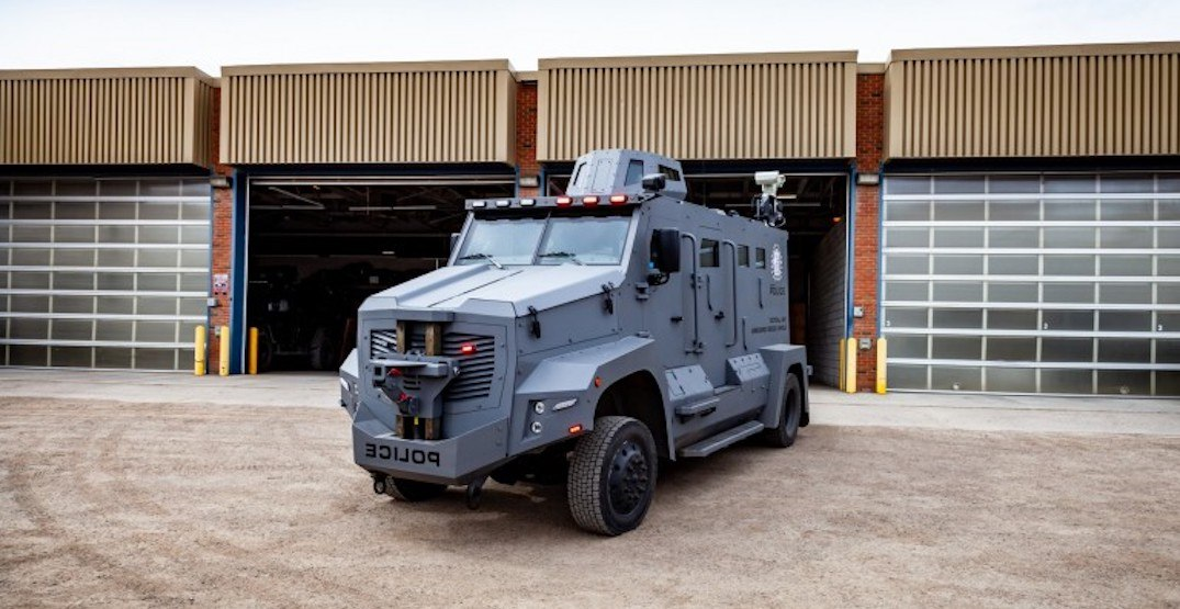 The Calgary Police Service is getting a new armoured rescue vehicle