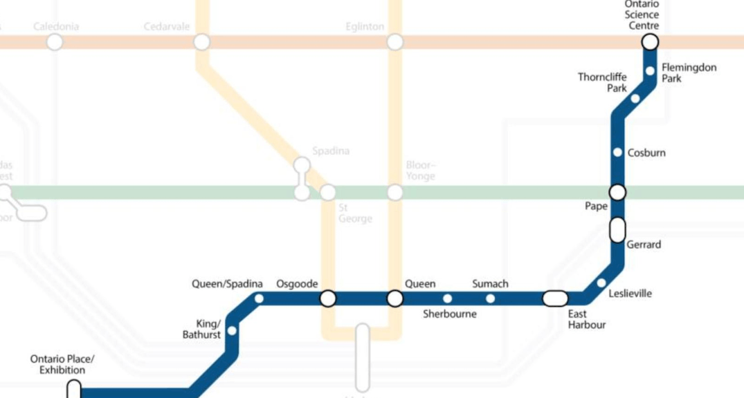 Ontario Budget 2019: All 15 locations of proposed Ontario Line revealed