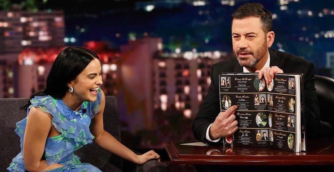 Camila Mendes explains hilarious Dark Table experience on Jimmy Kimmel (VIDEO)