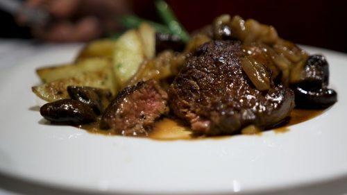 Steak Diane at Hy's Steakhouse