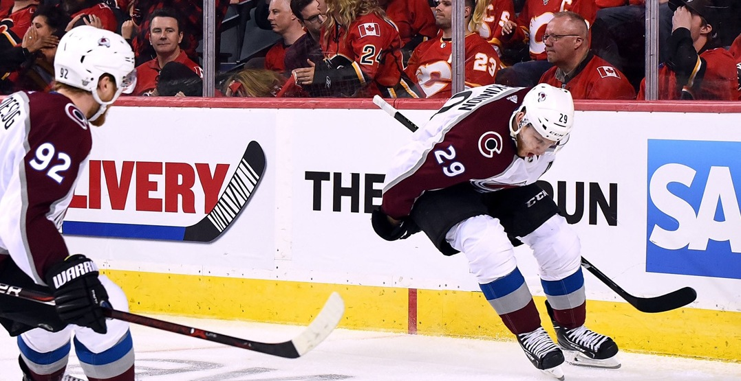 Avalanche stun Flames in Game 2 to even the series