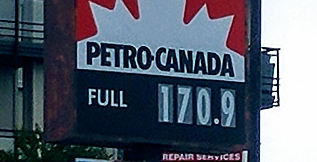 Vancouver gas prices break another North American record, top 170.0 cents/litre