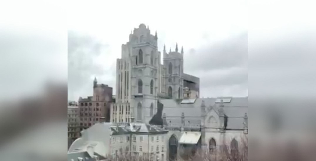 Notre-Dame Basilica of Montreal rings bells in honour of the Notre-Dame Cathedral fire (VIDEO)