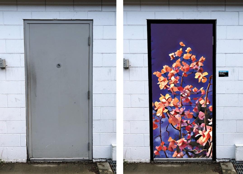 Canvas Corridor door