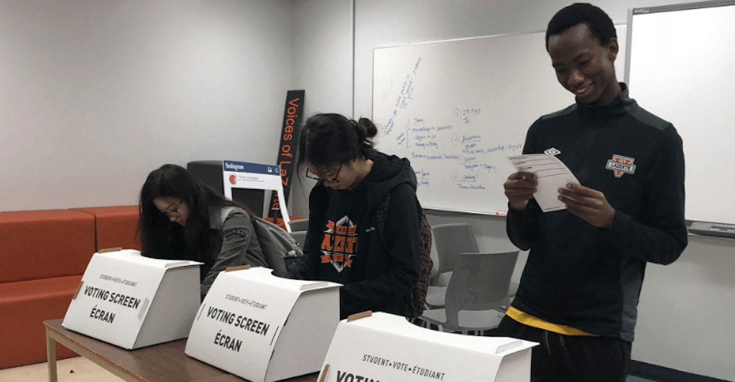 Elementary and high school students elect UCP majority in mock election