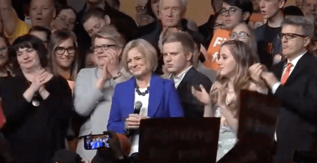 Rachel Notley makes concession speech, says she'll lead NDP as opposition