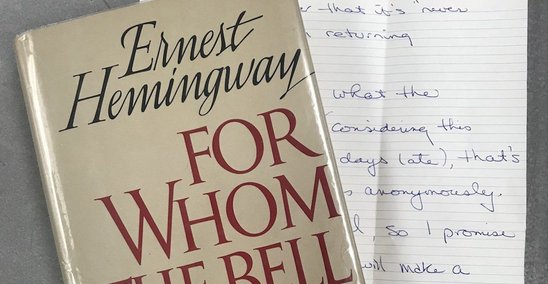 Book borrowed 32 years ago returned to Toronto Library