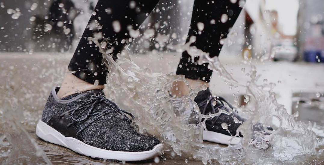 You can get sweet waterproof sneakers in Toronto from April 19