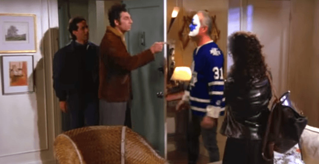 Leafs fan replaces David Puddy in famous Seinfeld scene (VIDEO)