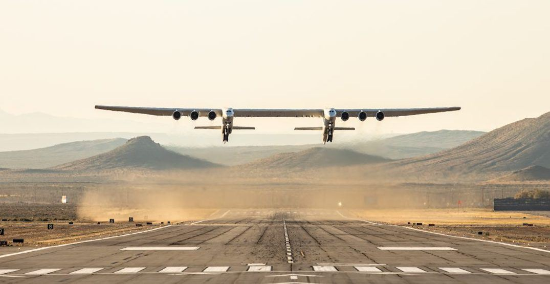 The world's largest airplane just took flight for the first time