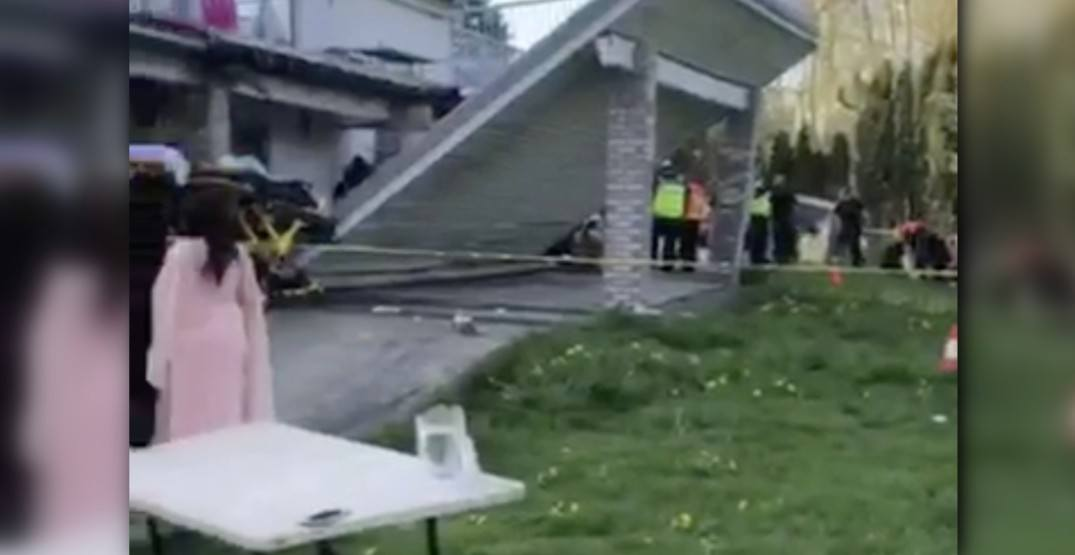 Nearly 40 wedding guests injured after deck collapses in Langley