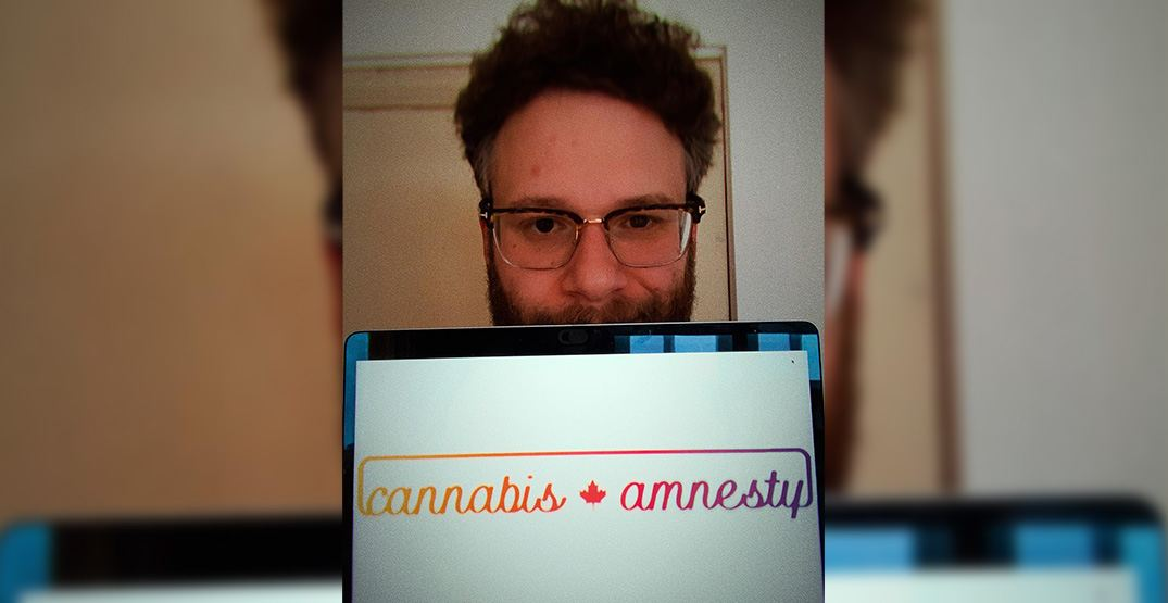 Seth Rogen lends his voice to call for cannabis amnesty in Canada