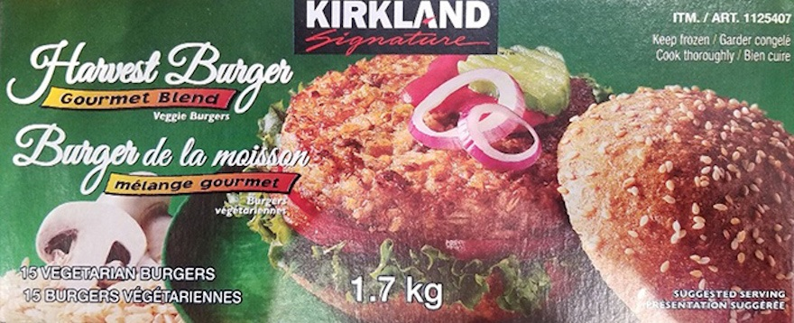 Kirkland metal veggie burgers