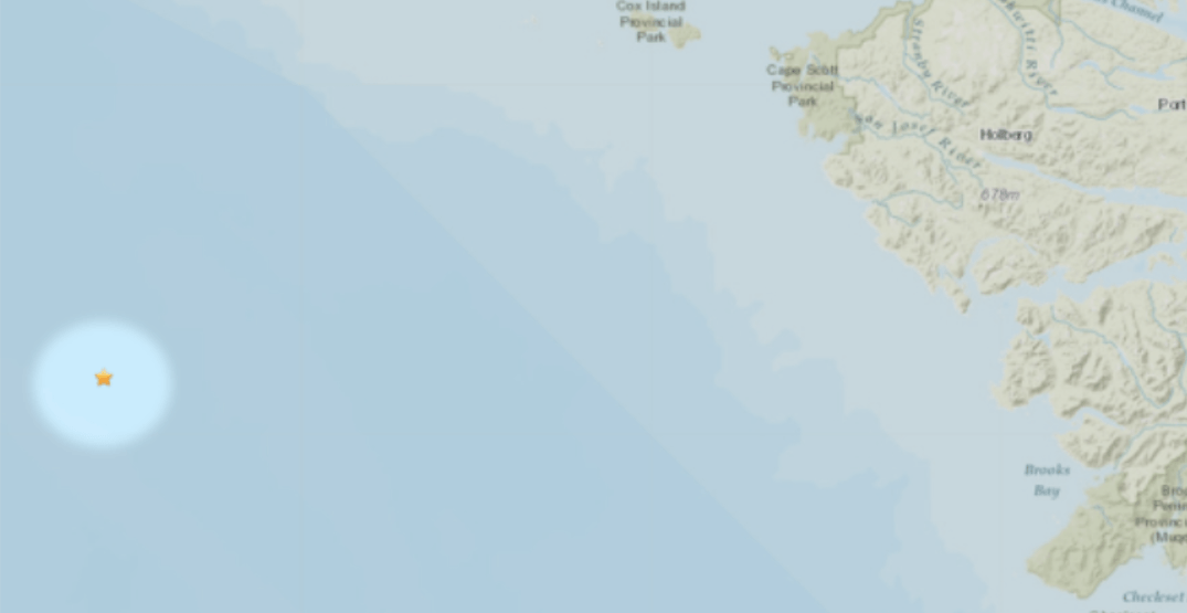 Earthquake strikes off coast of Vancouver Island Monday afternoon