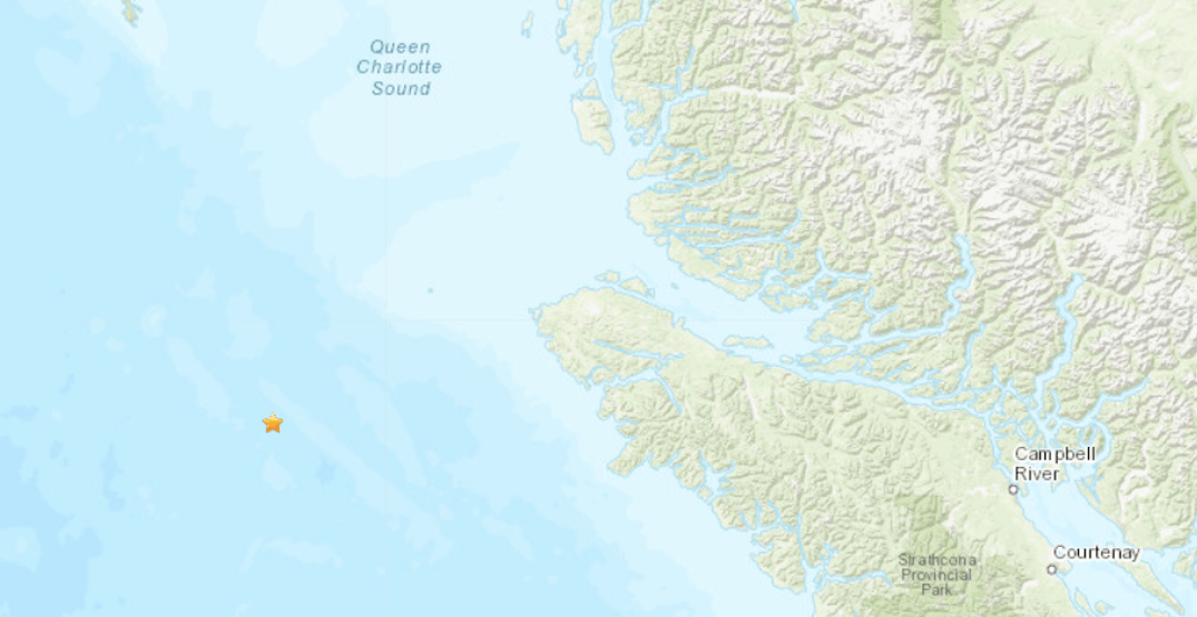 2 earthquakes in under 2 hours reported off west coast of Vancouver Island