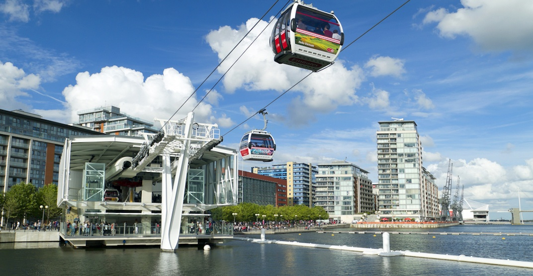 Emirates air line gondola london 2