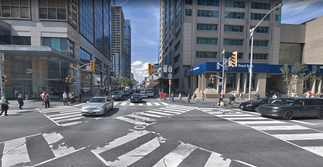 Intersection at Yonge and Bloor is currently closed in all directions