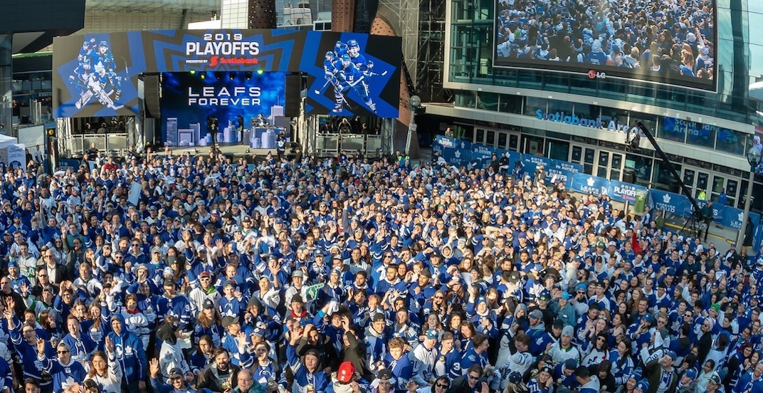Increased police presence for Leafs + Raptors tailgate party tonight