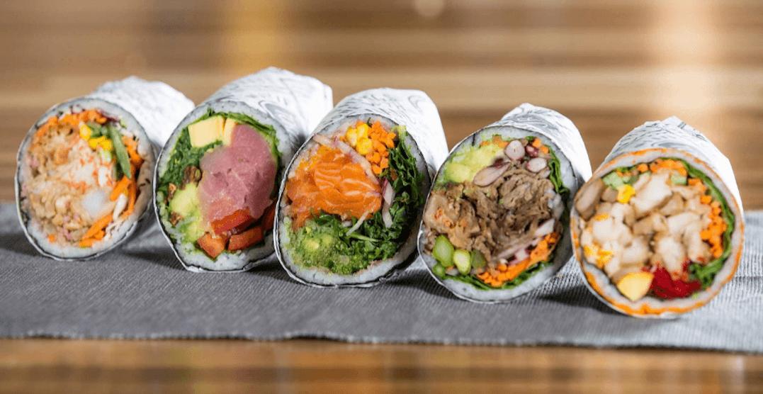 You can get FREE sushi burrito at Yonge-Dundas on April 25