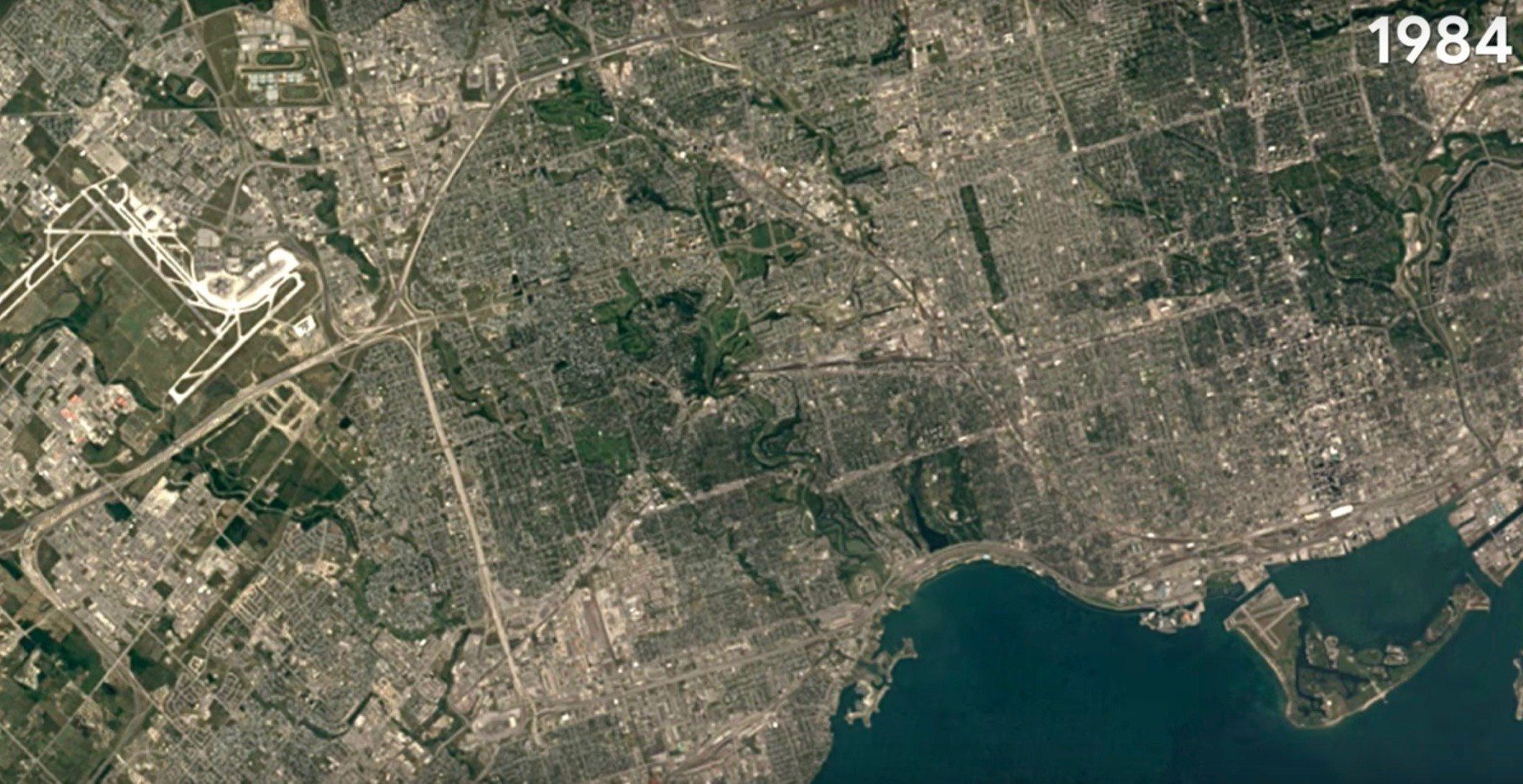 Google Earth releases timelapse of Toronto over the last 35 years