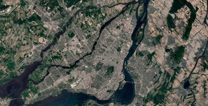 Montreal google earth years map