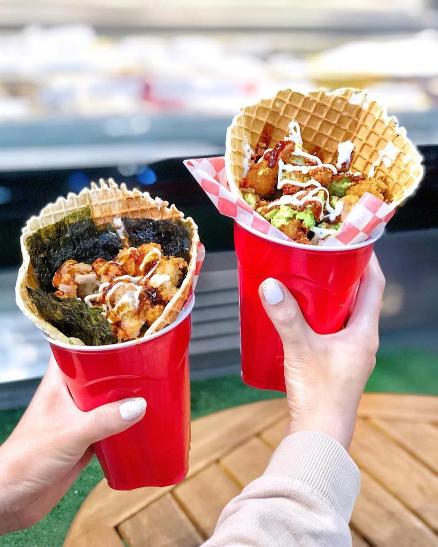 Chicken and waffle cups