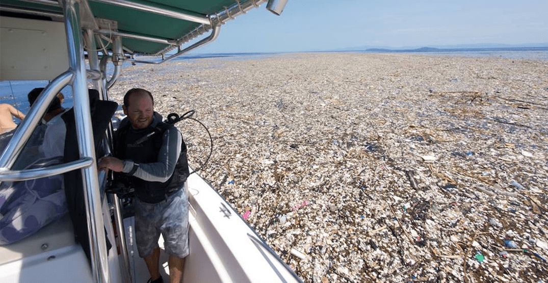Shocking images show 'sea of plastic' off the coast of Central America (PHOTOS)